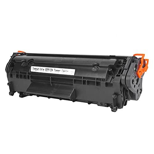 Okuyonic Cartucho de tóner, fácil de Agregar Polvo, Cartucho de tóner 2612A, Alta dureza y Alta resolución para Canon LBP-2900/3000 / L11121E para HP M1005 / M1005MFP(Black)