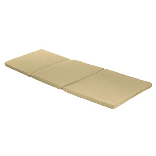 Garden Sun Lounger Replacement Pad To Fit Allibert Keter Daytona Sun Lounger| Rattan Sunlounger Recliner Patio Furniture Cushion | Water Resistant & Lightweight | Hypoallergenic Foam Filled (Stone)