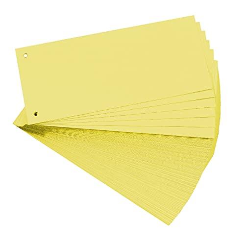 Exacompta 13315b separadores (cartón de manila, 190g, 105x 142mm) 100unidades azul, color amarillo
