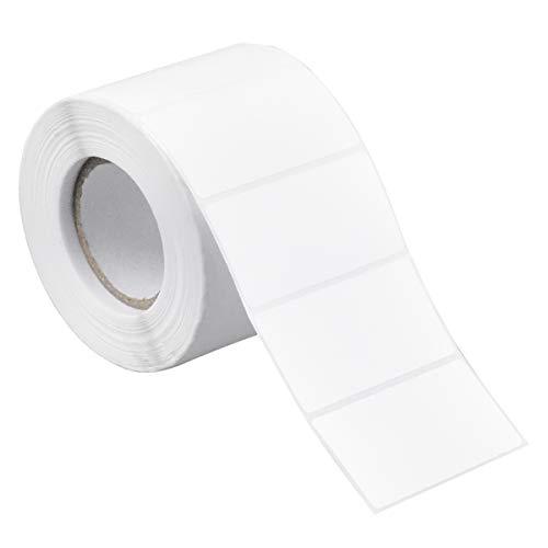 1000 Piezas Etiquetas Adhesivas Blancas, 6 X 3cm Rollo Etiquetas Autoadhesivo Etiqueta Imprimible para Congelador, Frascos
