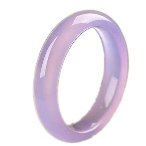 N/V Brazalete Calcedonia Hielo PúRpura Claro Brasil Pulsera áGata Violeta Fengshui Jade Bracelet Mujer,61-62mm