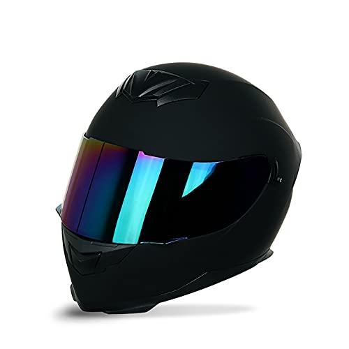 Bluetooth Integrado Casco de Moto Modular, Cascos de Motocicleta con Doble Visera DOT/ECE Homologado a Prueba de Viento para Hombres Mujeres F,M=57~58CM