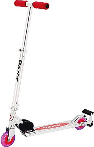Razor Spark Kick Scooter  LED LightUp Wheels Spark Bar Lightweight Aluminum Frame Foldable Adjustable Handlebars