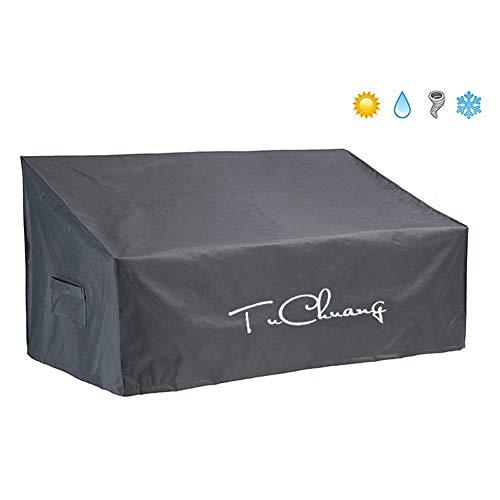 Abdeckung für 2/3-Sitzer-Loungesofa, Grau Wasserabweisend Polyester Schutzhülle Cover für Outdoor Garten Möbel Schutz vor Wind UV schützende, 58in*32in*33in