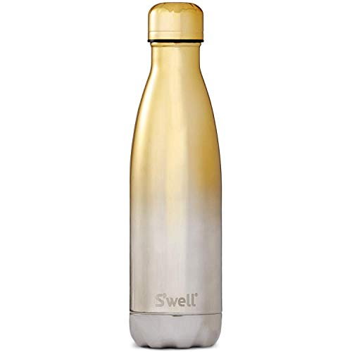 S'well Stainless Steel Water Bottle, 17oz, Yellow Gold