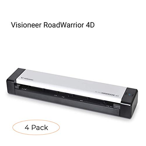 Fantastic Deal! Visioneer RoadWarrior 4D Duplex Mobile Scanner (Pack 4)