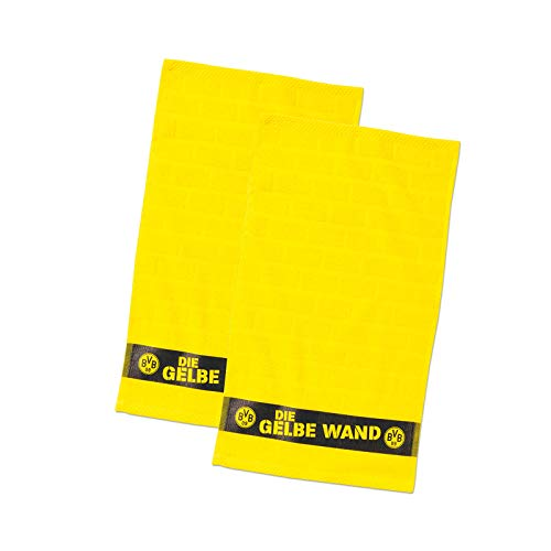 Borussia Dortmund BVB-Gästehandtücher Gelbe Wand (2er-Set) one Size