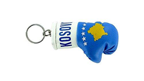 Schlüsselanhänger, Boxhandschuh, Design mit der Flagge des Kosovo
