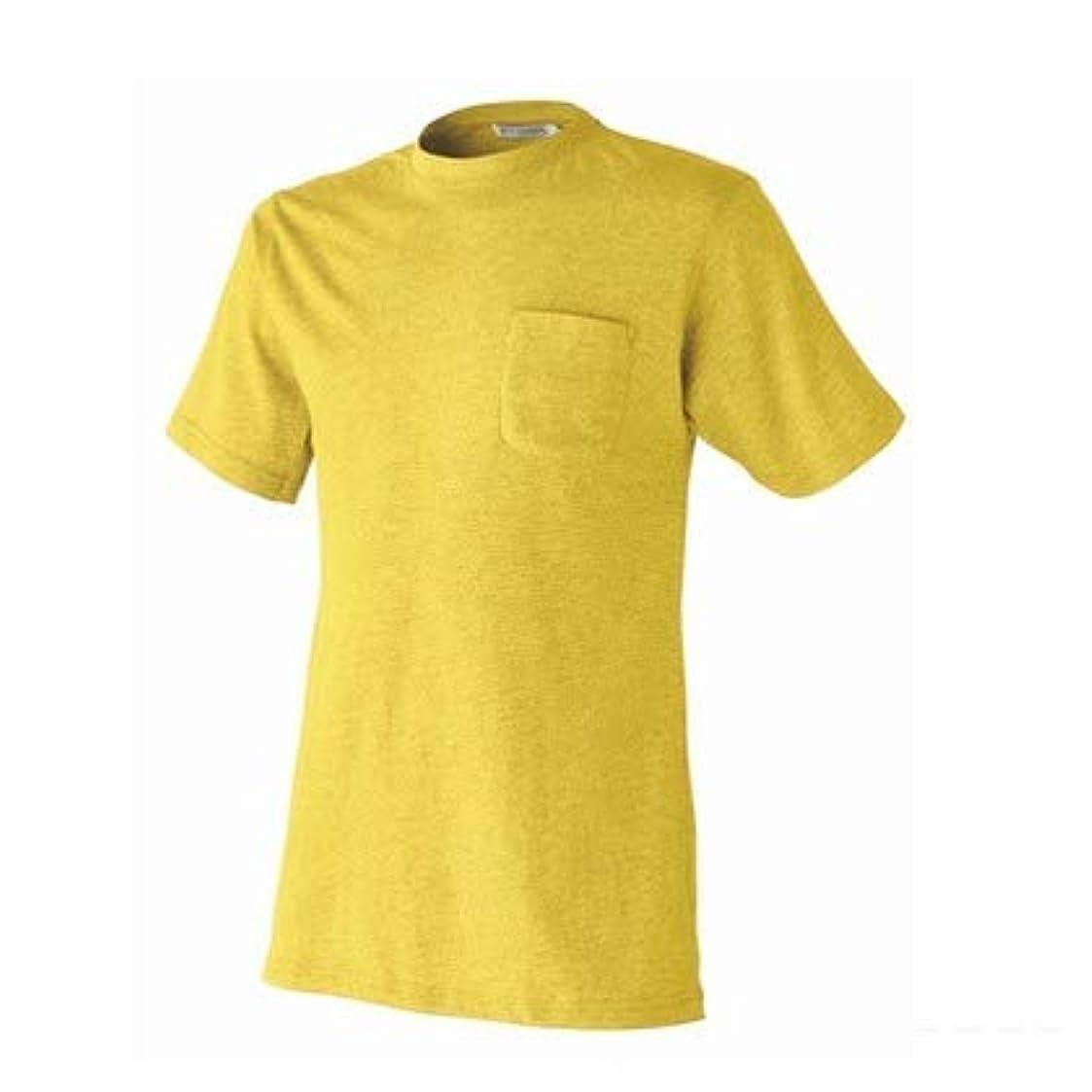 テレマコス低下バックグラウンドアタックベース 半袖Tシャツ 5050-15 4L イエロー