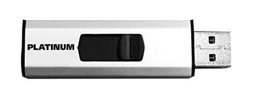 Preisvergleich Produktbild Platinum Slider USB-Stick 32 GB USB 2.0 USB-Flash-Laufwerk - Speicher-Stick in Silber inkl. Öse zur Befestigung am Schlüsselanhänger