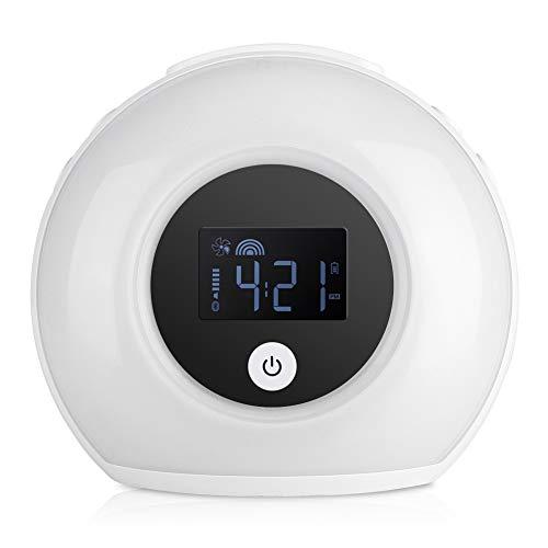 Topiky Bluetooth-wekkerluidspreker, draadloze HiFi-audio-luidspreker met digitale wekfunctie voor kinder/slaapkamer, voor smartphones, laptops en pc