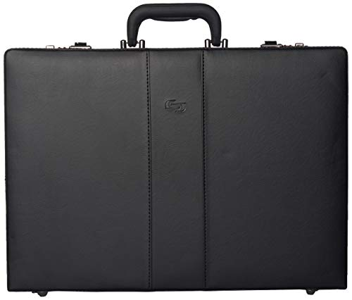 Solo New York Grand Central Attaché Case with Dual Combination Locks - Attaché Case for Men - Hard-Sided Briefcase - Large Capacity - Black
