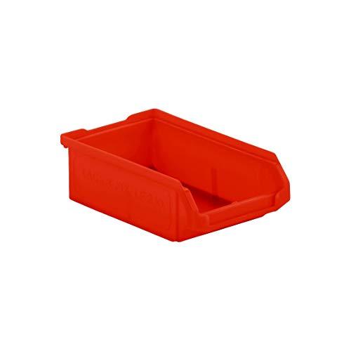 Sichtlagerkasten Stapelbox SSI Schäfer LF 210, PP Kunststoff, Aufbewahrung, Made in Germany, L 168 x B 103 x H 52 mm, 0,5 l, rot