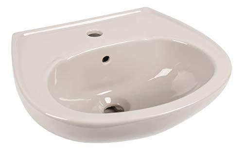 Calmwaters® - Handwaschbecken in Manhattan-Grau zur Wandmontage mit Überlauf und Hahnloch, 45 cm klein - 04AB2294