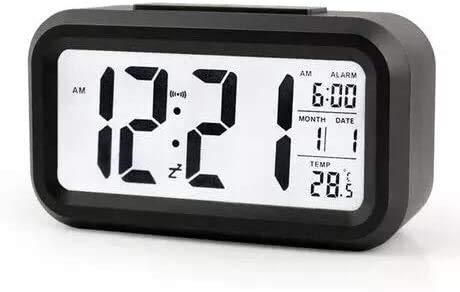 S8 Digital Morning Clock,Alarm Clock Low Light Sensor Technology Light on Backlight When Detect Low, Soft Light That Won
