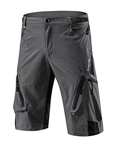 Bestgift Ciclismo pantalones para hombre de verano de secado rápido off-road ciclismo al aire libre ropa deportes bicicleta de montaña pantalones cortos ciclismo ropa hombre, gris, 42