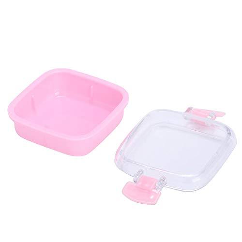 プラスチックケース、密閉効果の良いキャンディーボックス、毎日の使用のための軽量クッキーの結婚式スナック砂糖の誕生日パーティーソフトスイーツ(Pink)