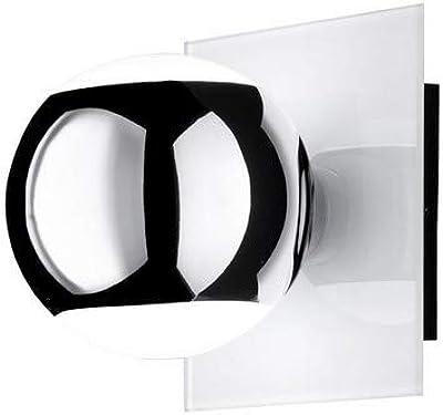 Wofi Mona - Aplique de pared (1 luz), color blanco y negro