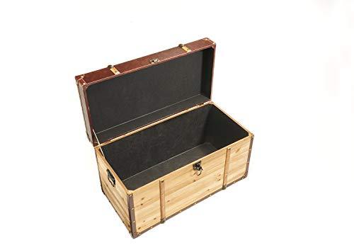 Truhe Schatztruhe Piratentruhe Panama-V - Holz - 70x35x39 cm - 5