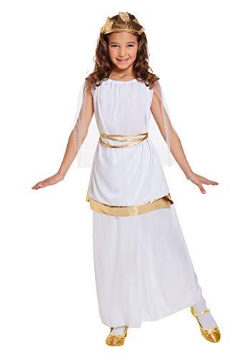 HENBRANDT Disfraz Disfraz Chica Chica Disfraz de Diosa Griega para Niños de 4 a 6 años