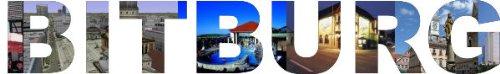 INDIGOS UG - Wandtattoo Wandsticker Wandaufkleber - Aufkleber farbige Wandschrift Städtename Städtename Bitburg mit Sehenswürdigkeiten 40 x 6 cm Länge