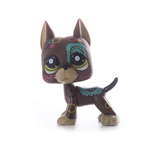 Tienda de Mascotas Juguetes Lps Juguete Littlest Lps Gran danés Cocker Spaniel Perro Pelo Corto Gato Negro Rosa Blanco Lps Figura de acción Modelo de Juguete para niños GIF