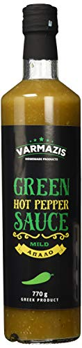 Varmazis Green Hot Pepper Sauce - Grüne Scharfe Sauce, 700 ml