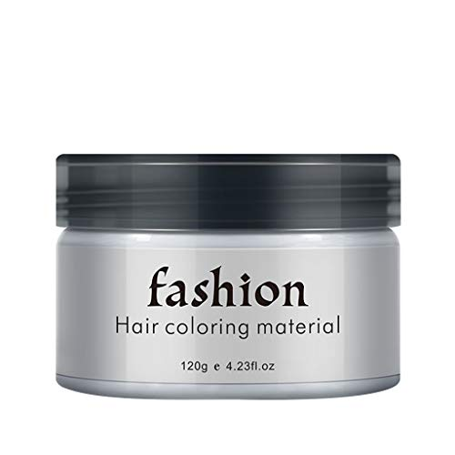 DeHolifer 120g Farbe Haarwachs, wirtschaftlich bequem Einweg Haarfärbemittel Färben Schlamm Frisur Modelliercreme für Männer Frauen Verwenden