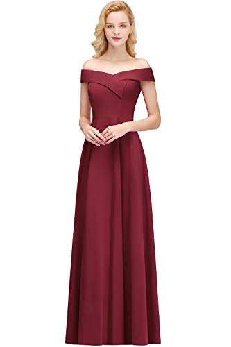 MisShow Damen Elegant Abendkleider elegant für Hochzeit Brautjungfernkleid lang Cocktailkleider...
