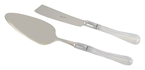 Arvindgroup Zaffiro Collection Cake/Pastry Server Set, Clear