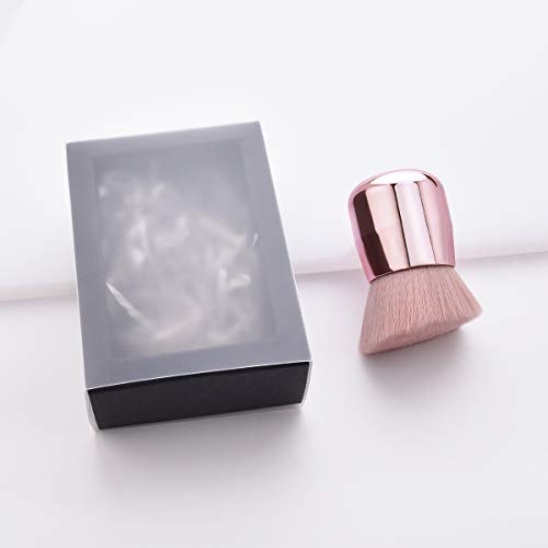 JIALONGZI Super zachte draagbare borstel voor vloeibare of crème Foundation/concealer/poeder Blush brush roze