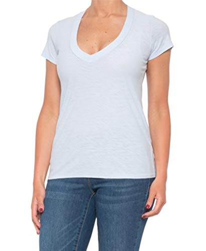 James Perse Women's Relaxed Casual V-Neck Short Sleeve Shirt (Bergamont, 0)
