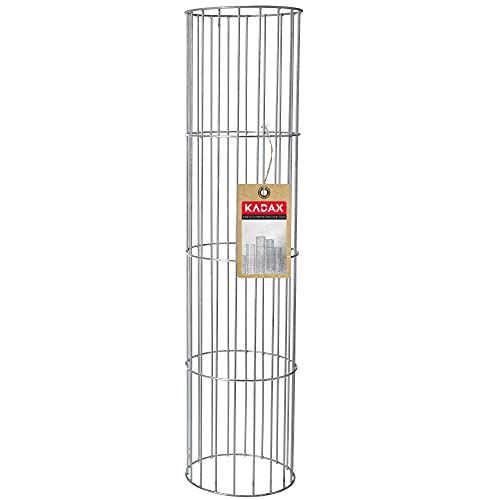 KADAX Säule aus Stahl, Gittersäulen, Stahlgittersäulen, Originalgittersäulen, Steingabionen, Ziergabione, Gabione, Steinkorb, Drahtkorb (L, Oval)