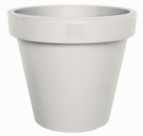 geli Thermo Plastic E&K plantenpot bloempot van kunststof hoeken en randen 35 cm crème-wit 56