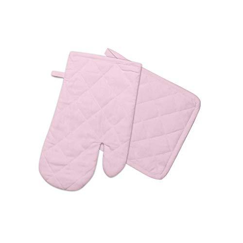 Soleil d'ocre Handschuh und Topflappen Baumwolle Panama rosa