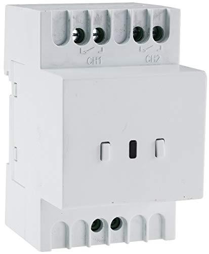 Funk Schalt Empfänger für Hutschiene I Montage im Schaltkasten I 230V / 16A I LED Funktionsanzeige I 2 Schalt Ausgänge
