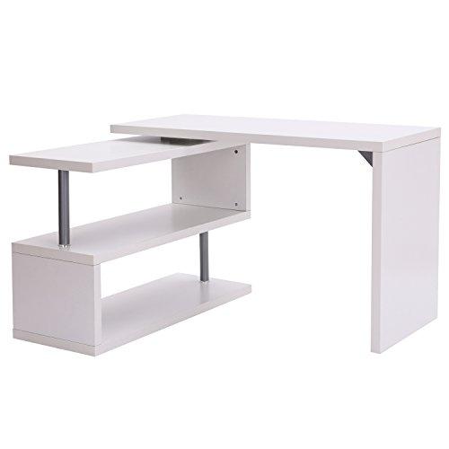 120 X 60 X 75 Cm Table De Travail En Bois Et Métal Noyer