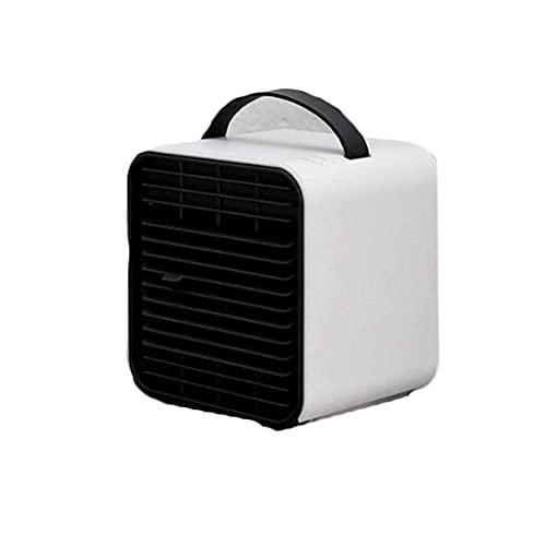 Bar Stools Mini Ventilador portátil USB refrigerador Aire Acondicionado Ventilador portátil (Color: Polvo nórdico) (Color : Excellent White)