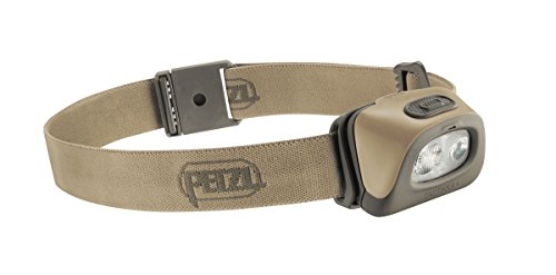 Petzl - TACTIKKA + Headlamp, 250 lumens, Ultra-Compact Headlamp, Desert