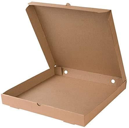 Ryfi Caja para Pizza I Pizza Cajas 30x30x4 cm Pizza cartones 100 Piezas I compostables empaquetado para Pizza Caja Cuadrada doblada, Caja con ventila/Agujeros I Cartón Ecologico Color marrón