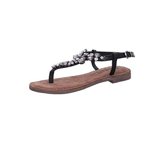 Lazamani dames sandalen 75.604 zwart zwart 673018