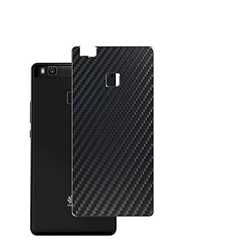 VacFun 2 Piezas Protector de pantalla Posterior, compatible con HUAWEI P9 Lite, Película de Trasera de Fibra de carbono negra Skin Piel