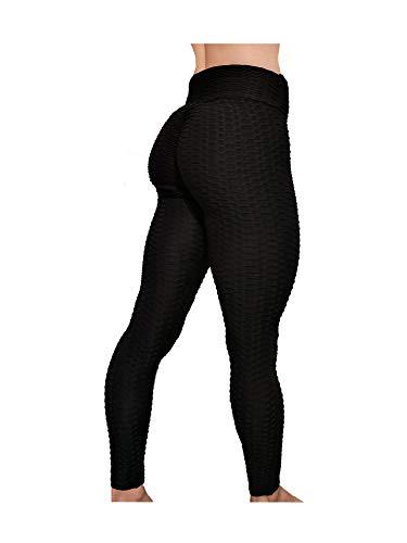 La Cosa Tiene Tela Leggings Mallas para Mujer Efecto Push Up Mujer Deportivos Elásticos Fitness Gimnasio (L, Multicolor)