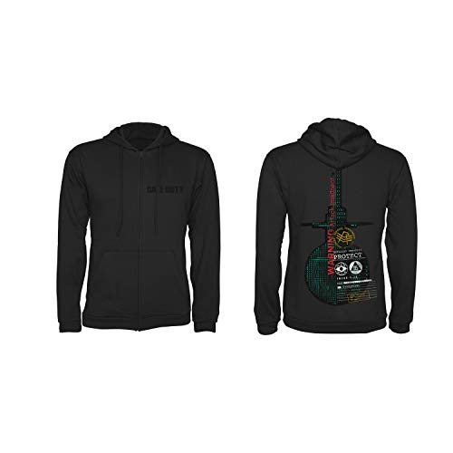 """Call of Duty: Cold War Zipper Hoodie """"Protect"""" Black Size XL"""