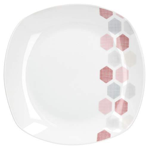 Van Well eetborden grote eetborden platte buffet plaat serveerbord voor menu-bijgerechten feestelijke decoratie edel hotel-porselein tafelservies vierkant