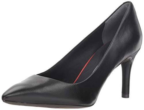 Rockport Women's Total Motion 75mm Pointy Pump, 5.5 M, Black Leather