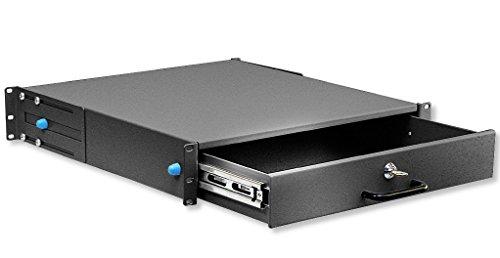 INTELLINET I-CASE KEY-2BK - Cassetto Porta Tastiera 2U per Armadi Rack 19'' con Serratura Nero