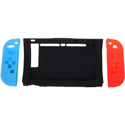 siwetg Coque de Protection en Silicone pour Manette de Console Switch NS Joy-Con Gauche B