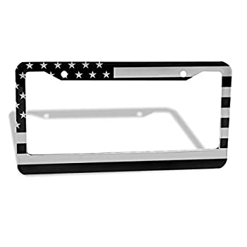 American Flag License Plate Frame Personalized Car Tag Holder Rust-Proof