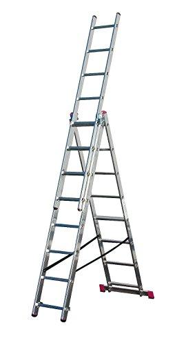 Krause Corda Alu VielzweckLeiter Treppenleiter 3x8 Sprossen Stehleiter